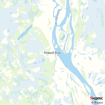 Карта Нового Бора