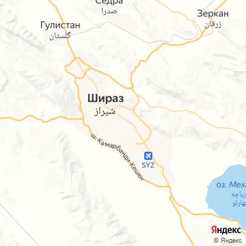 Карта Шираза