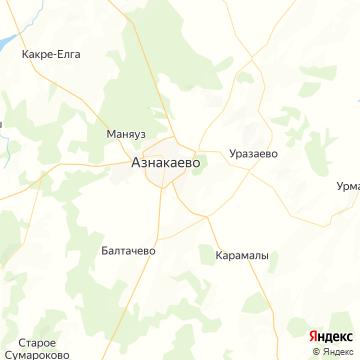 Карта Азнакаево
