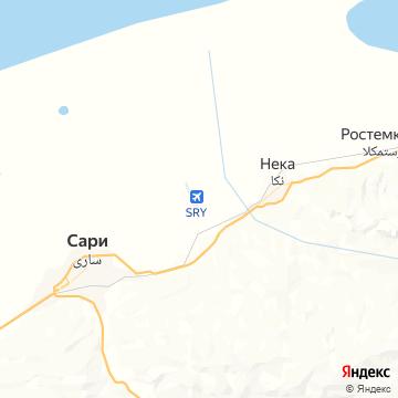 Карта Сари