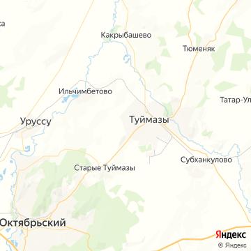 Карта Туймазов