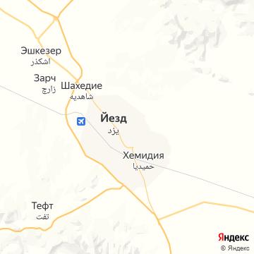 Карта Язда