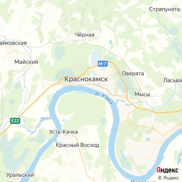 Карта Краснокамска