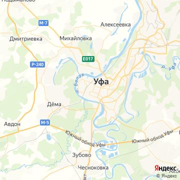 Карта Уфы