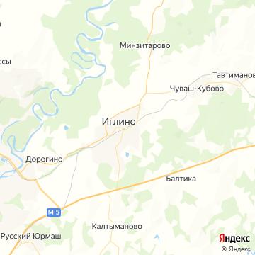 Карта Иглино