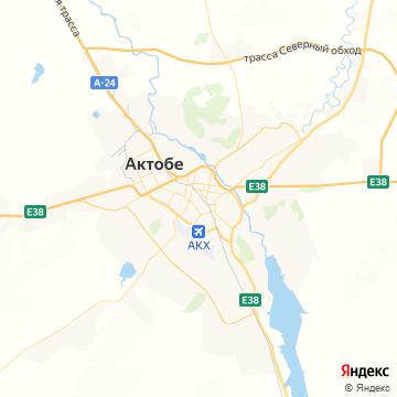 Карта Актюбинска