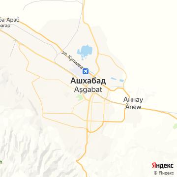 Карта Ашхабада
