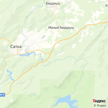 Карта Сатки