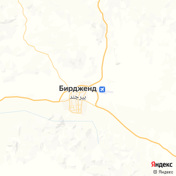 Карта Бирджанда