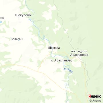 Карта Шемахи