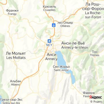 Карта Аннесей