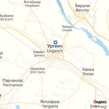 Карта Ургенча