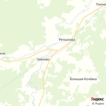 Карта Зайково