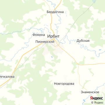 Карта Ирбита