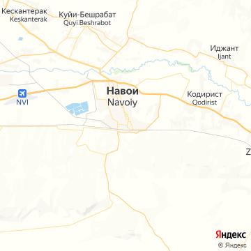 Карта Навои