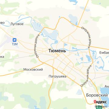 Карта Тюмени