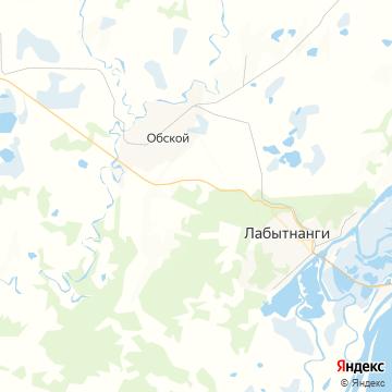 Карта Лабытнанги