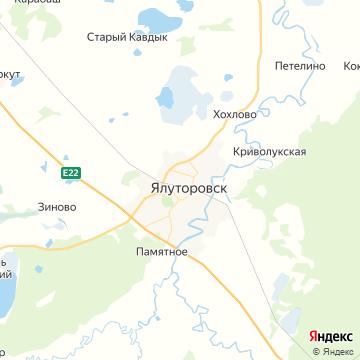 Карта Ялуторовск