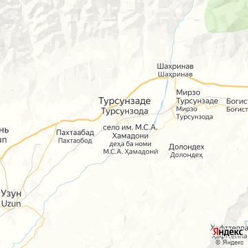 Карта Турсунзаде