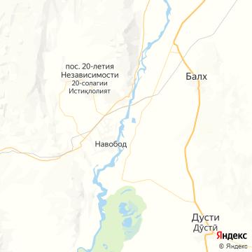 Карта Курган-Тюбе
