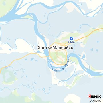 Карта Ханты-Мансийска
