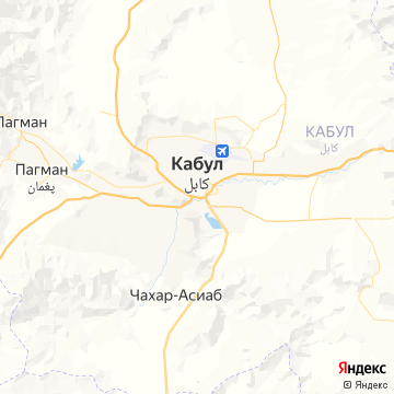 Карта Кабула