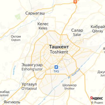 Карта Ташкента