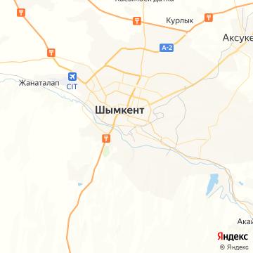 Карта Шымкента