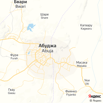 Карта Абуджи