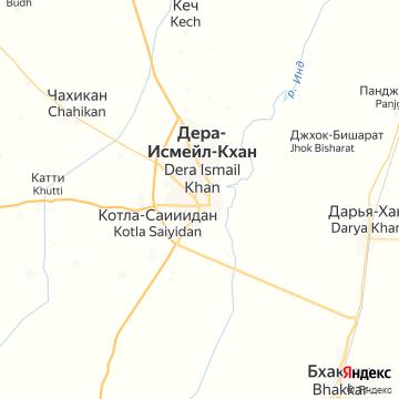 Карта Деры Исмаила Хана