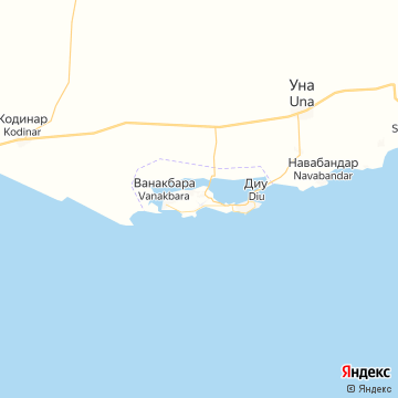Карта Диу Инд