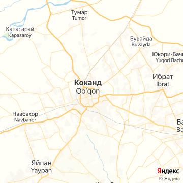Карта Коканда