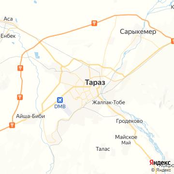 Карта Тараза