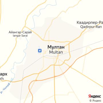 Карта Мултана