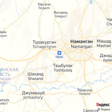 Карта Намангана