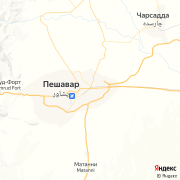 Карта Пешавара