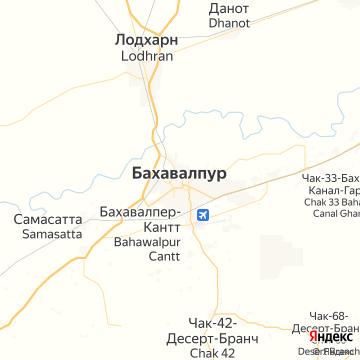 Карта Бехавалпура