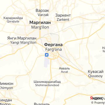 Карта Ферганы