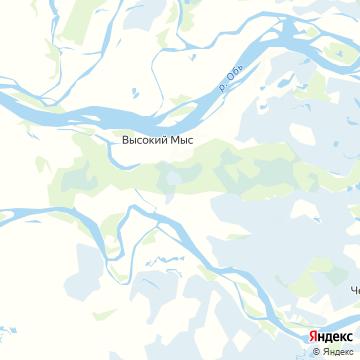 Карта Высокого Мыса