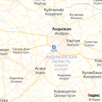 Карта Андижана