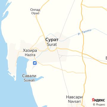 Карта Сурата
