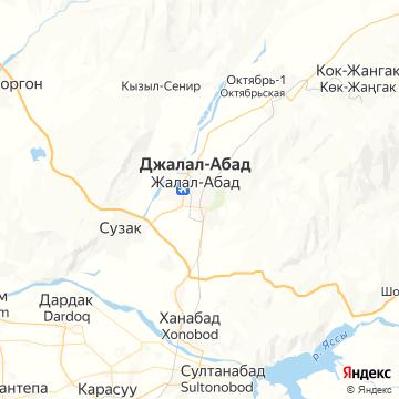 Карта Джалала-Абада