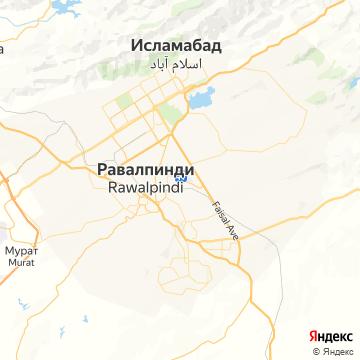 Карта Исламабада