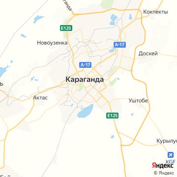 Карта Караганды