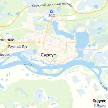 Карта Сургута