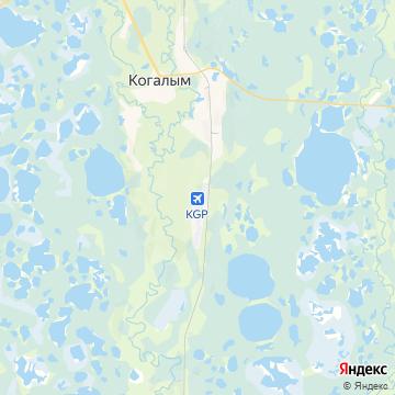 Карта Когалыма