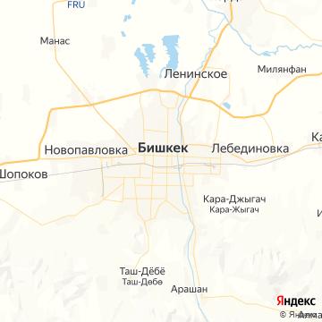 Карта Бишкека