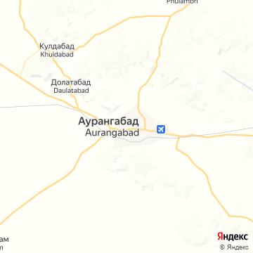 Карта Аурангабада
