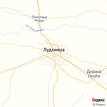 Карта Лудхианы