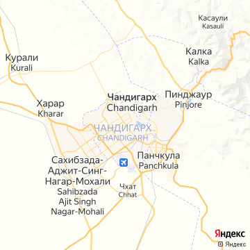 Карта Чандигарха